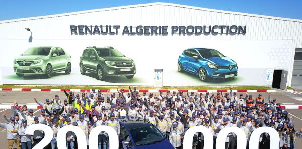 Le 200 000e véhicule sorti de l'usine Renault Algérie Production