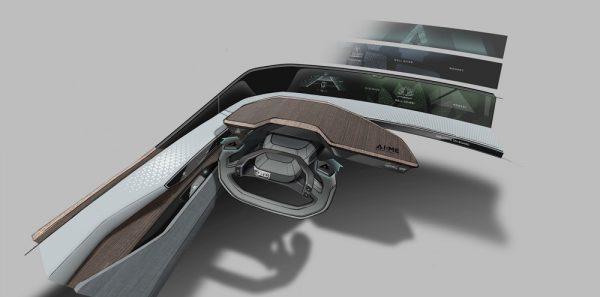 Tableau de bord du concept car Audi AI